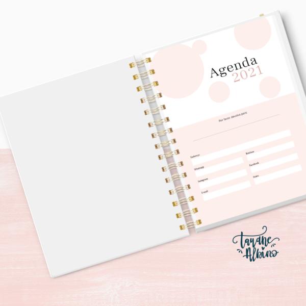 Miolo impresso Agenda Rosê