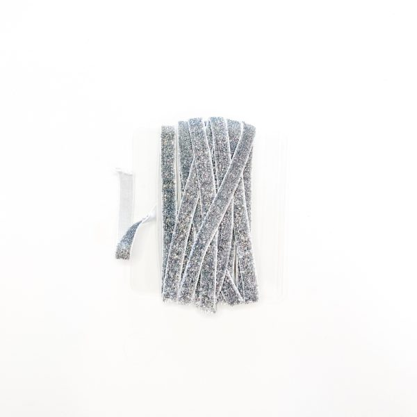 Elástico Glitter Prata 10mm
