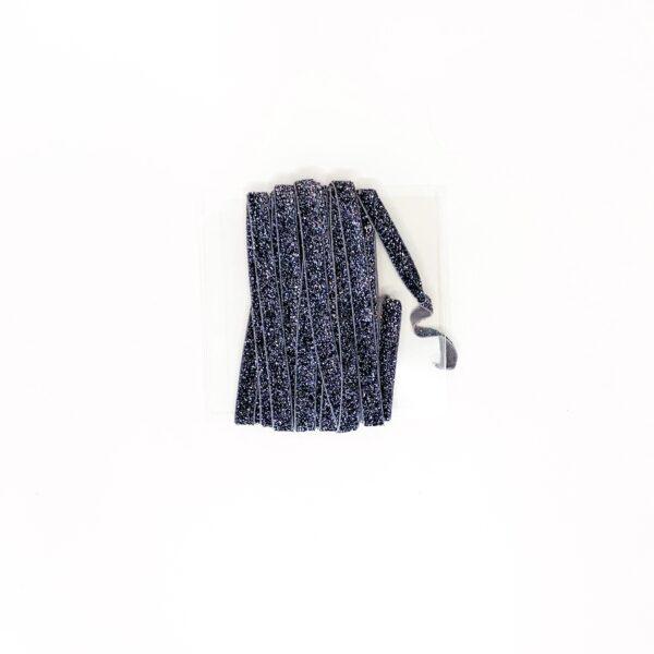 Elástico Glitter preto 10mm