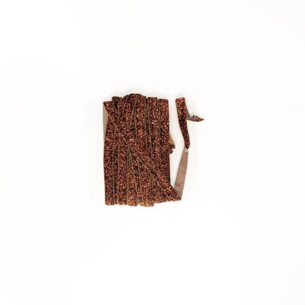 Elástico Glitter Bronze 10mm