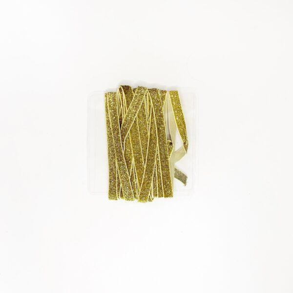 Elástico Glitter Dourado 10mm