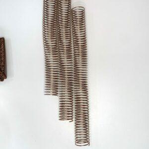 Espiral em alumínio 32mm bronze - 10 unidades