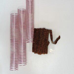 Espiral em alumínio 32mm rosa - 10 unidades