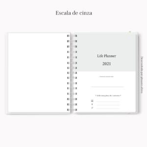 2021 Life Planner A5 Escala de cinza