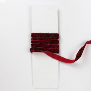 Elástico Glitter vermelho 10mm